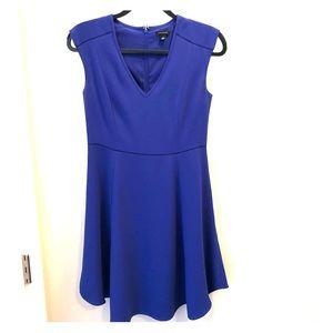 Women's Ann Taylor lined blue dress.
